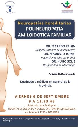 Neurólogos de Buenos Aires, Chaco y Posadas disertarán en el Hospital Escuela de Agudos â??Dr. Ramón Madariagaâ?
